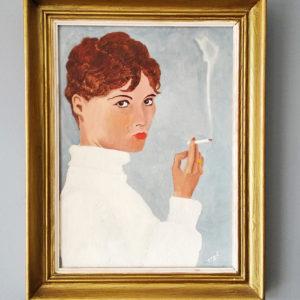 """Portrait """"la femme qui fume"""""""