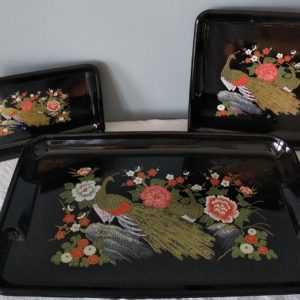 Lot 3 Plateaux chinois