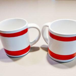 mugs céramique rouge et blanc design by ASA Sélection