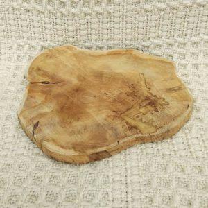 dessous de plat tranche de tronc d'arbre