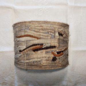 Applique vintage en laine dégradé de marrons