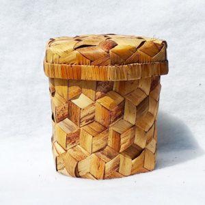 Boîte bambou tressé