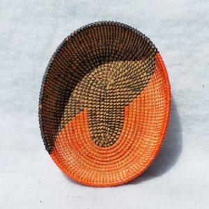 Corbeille ovale tressée