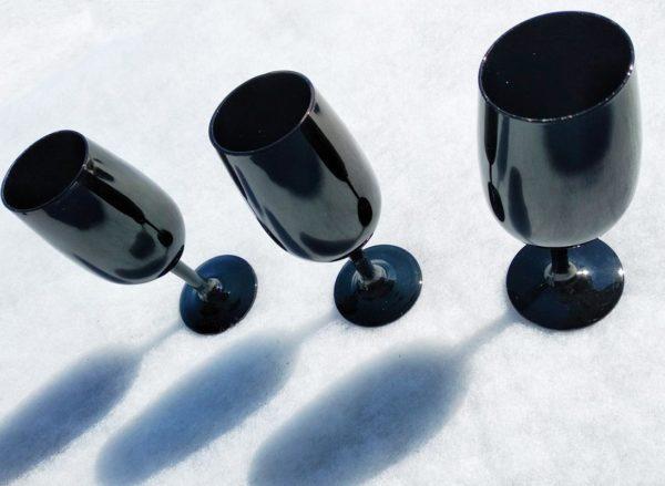 Flutes céramique noire - Lot de 3