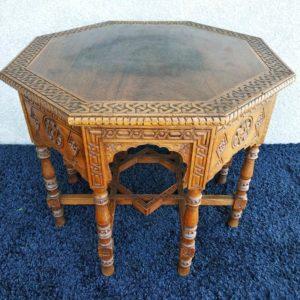 Table bois plateau octogonal