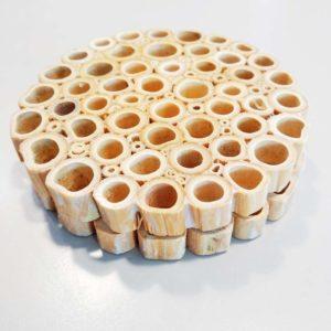 Dessous de bouteille en bambou - Lot de 2