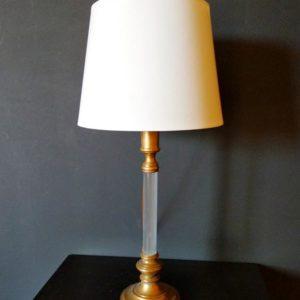 lampe en laiton à colonne