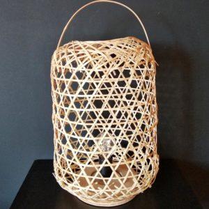 lampe lanterne en osier