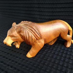 Bestiaire - Lion en bois