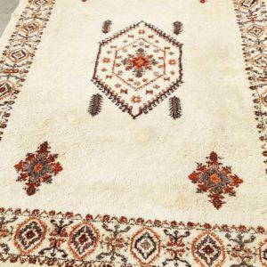 Tapis marocain pure laine blanc