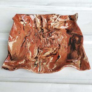 Vide-poche faience émaillée imitation marbre