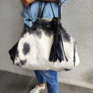 sac cabas peau de vache